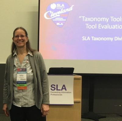 Heather Hedden presenting at the 2019 SLA conference