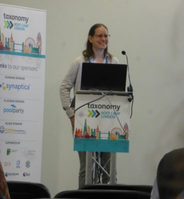 Heather Hedden speaking at Taxonomy Boot Camp London 2018